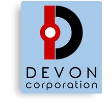 Devon Corporation Logo (in Black) Canvas Print