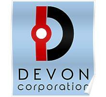 Devon Corporation Logo (in Black) Poster