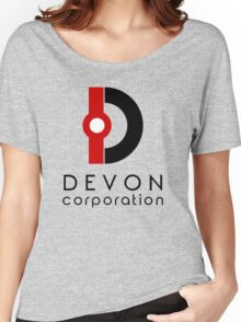 Devon Corporation Logo (in Black) Women's Relaxed Fit T-Shirt