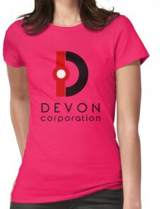 Devon Corporation Logo (in Black) Womens Fitted T-Shirt