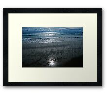SCREEN OCEAN  Framed Print