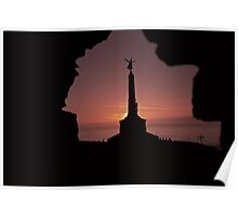 Classic Welsh Castle Sunset over Cardigan Bay Poster