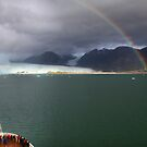 Rainbow over Amalia glacier II by Robyn Lakeman