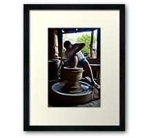 The Pot Maker Framed Print