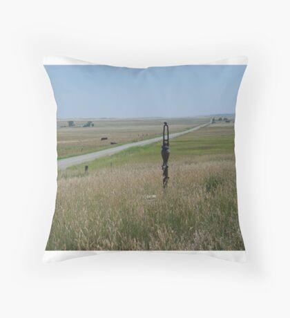 Little Pump on the Prairie Throw Pillow