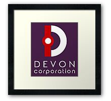 Devon Corporation Logo (in White) Framed Print