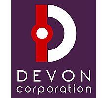 Devon Corporation Logo (in White) Photographic Print