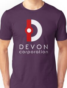 Devon Corporation Logo (in White) Unisex T-Shirt