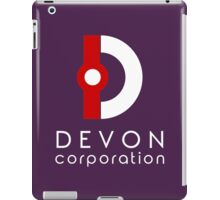 Devon Corporation Logo (in White) iPad Case/Skin
