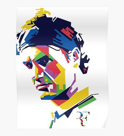 Roger Federer art Poster