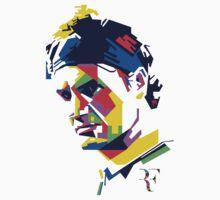 Roger Federer art Kids Tee