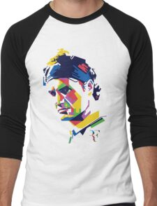 Roger Federer art Men's Baseball ¾ T-Shirt