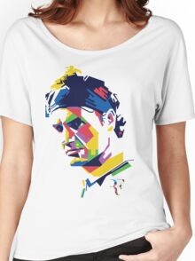 Roger Federer art Women's Relaxed Fit T-Shirt