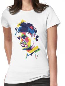 Roger Federer art Womens Fitted T-Shirt