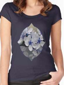 Blue Blossom Women's Fitted Scoop T-Shirt