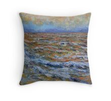 Orange Sea Throw Pillow