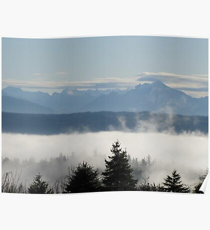 Flaring Clouds Poster