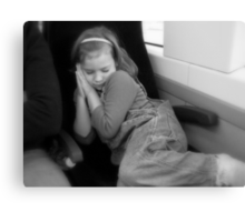 Snoozing on a Train Ride Canvas Print