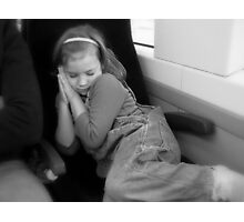 Snoozing on a Train Ride Photographic Print