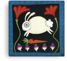 White Rabbit in the Garden Canvas Print