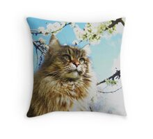 Oaty and Apple blossoms. Throw Pillow