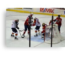 Washington Capitals vs. Florida Panthers: First Goal by Caps Canvas Print