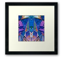 Reflected Blue Mirror Abstract I Framed Print