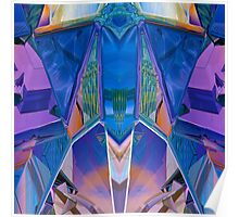 Reflected Blue Mirror Abstract I Poster