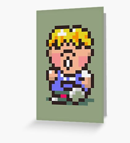 Pokey Minch - Earthbound/Mother 2 Greeting Card