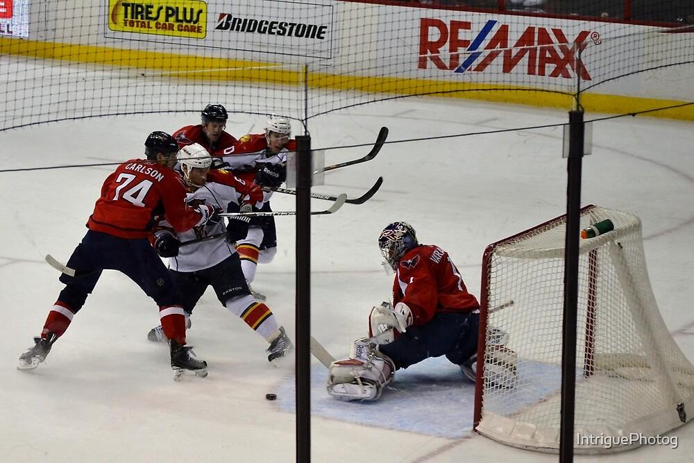 Washington Capitals: Varlamov Protects his Goal by IntriguePhotog