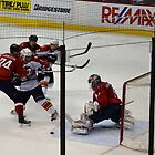 Washington Capitals: Varlamov Protects his Goal by IntriguePhotog