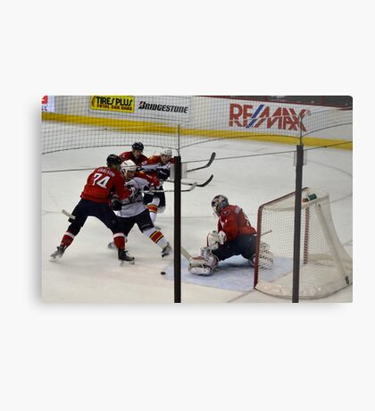 Washington Capitals: Varlamov Protects his Goal Metal Print