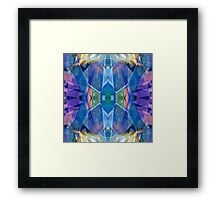 Reflected Blue Mirror Abstract II Framed Print