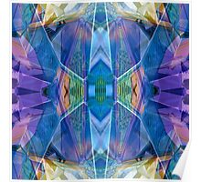 Reflected Blue Mirror Abstract II Poster