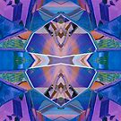 Reflected Blue Mirror Abstract III by Hugh Fathers