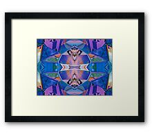 Reflected Blue Mirror Abstract III Framed Print