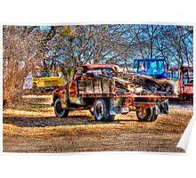 Old Trucks - Forrestburg ,Texas Poster