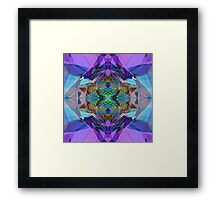 Reflected Blue Mirror Abstract IV Framed Print
