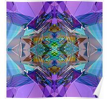 Reflected Blue Mirror Abstract IV Poster