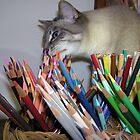 Chewing on Mom's Pencils by CarolD
