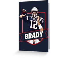 Tom Brady - Patriots Greeting Card