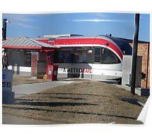 Austin's New Metrorail - Red Blur, Silver Streak Poster