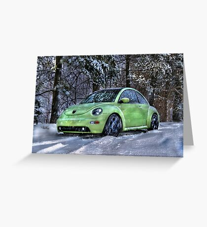 Little Green Bug Greeting Card
