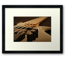 Strings and knobs Framed Print