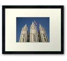 Patriotic Salt Lake Framed Print