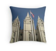 Patriotic Salt Lake Throw Pillow
