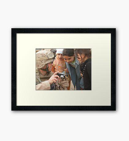 Marine taking pictures Framed Print