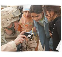 Marine taking pictures Poster