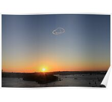 New Years Eve - Sunset Over Sydney Harbour Poster