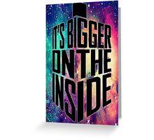 Bigger on the inside - Dark Greeting Card